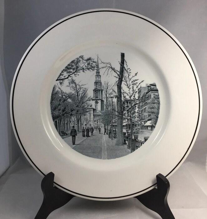 Image 0 of Vintage Copeland Spode Boston Plate