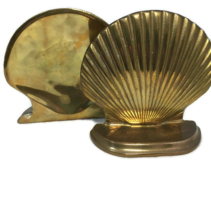 Image 3 of Vintage Brass Shell Bookends