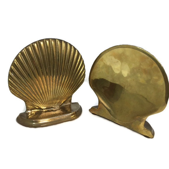 Image 5 of Vintage Brass Shell Bookends