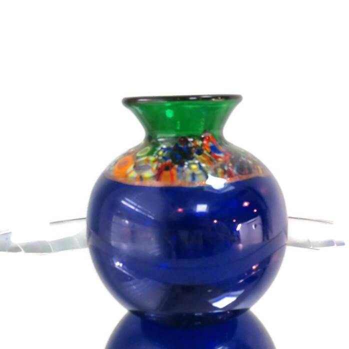 Image 9 of Handblown Blue Glass Vase
