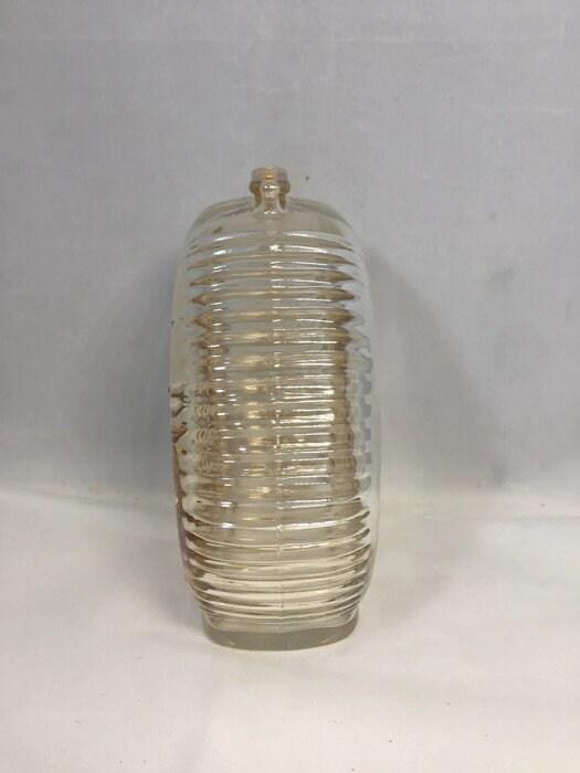 Image 1 of Vintage Amber Carnival Glass Piggy Bank