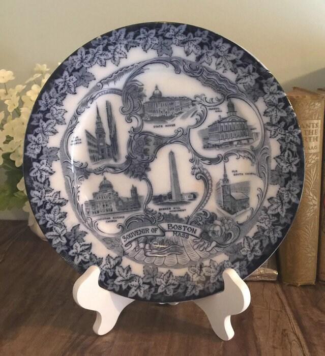 Antique Boston Massachusetts Plate