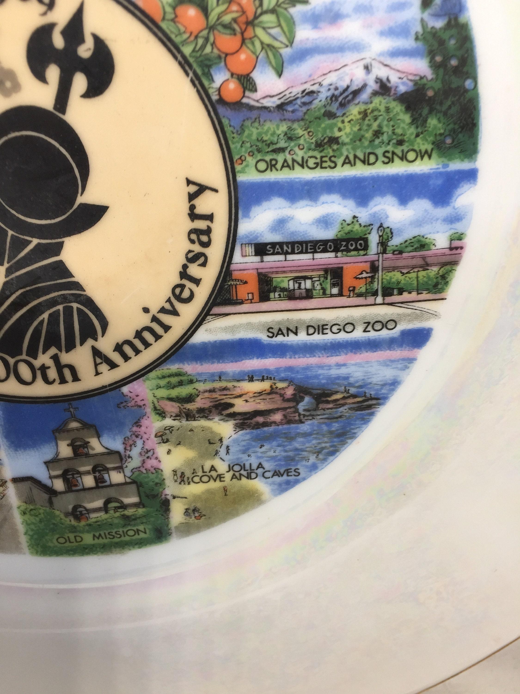 Image 6 of Vintage San Diego Souvenir Plate
