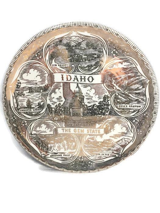 Image 1 of Vintage Idaho Souvenir Plate