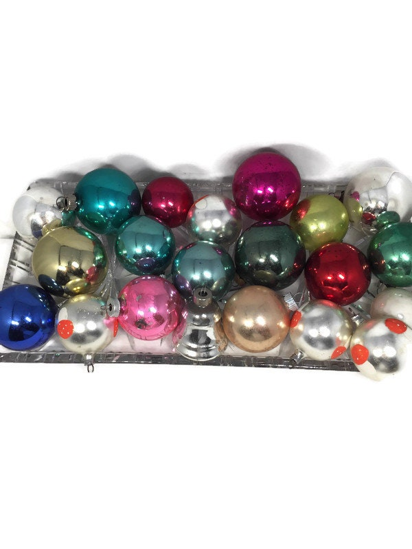 1950s Glass Holiday Decoration Shiny Brite