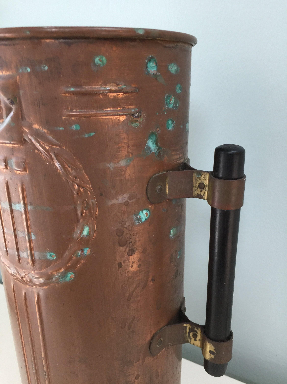 Image 3 of Vintage Copper Arts and Crafts Vase