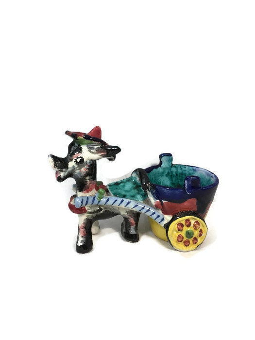 Image 0 of Donkey Cart Ceramic Planter