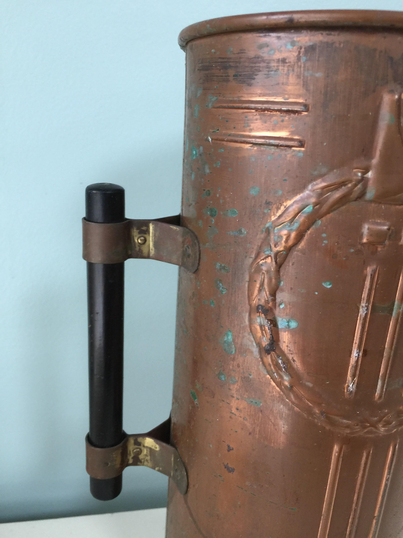 Image 5 of Vintage Copper Arts and Crafts Vase