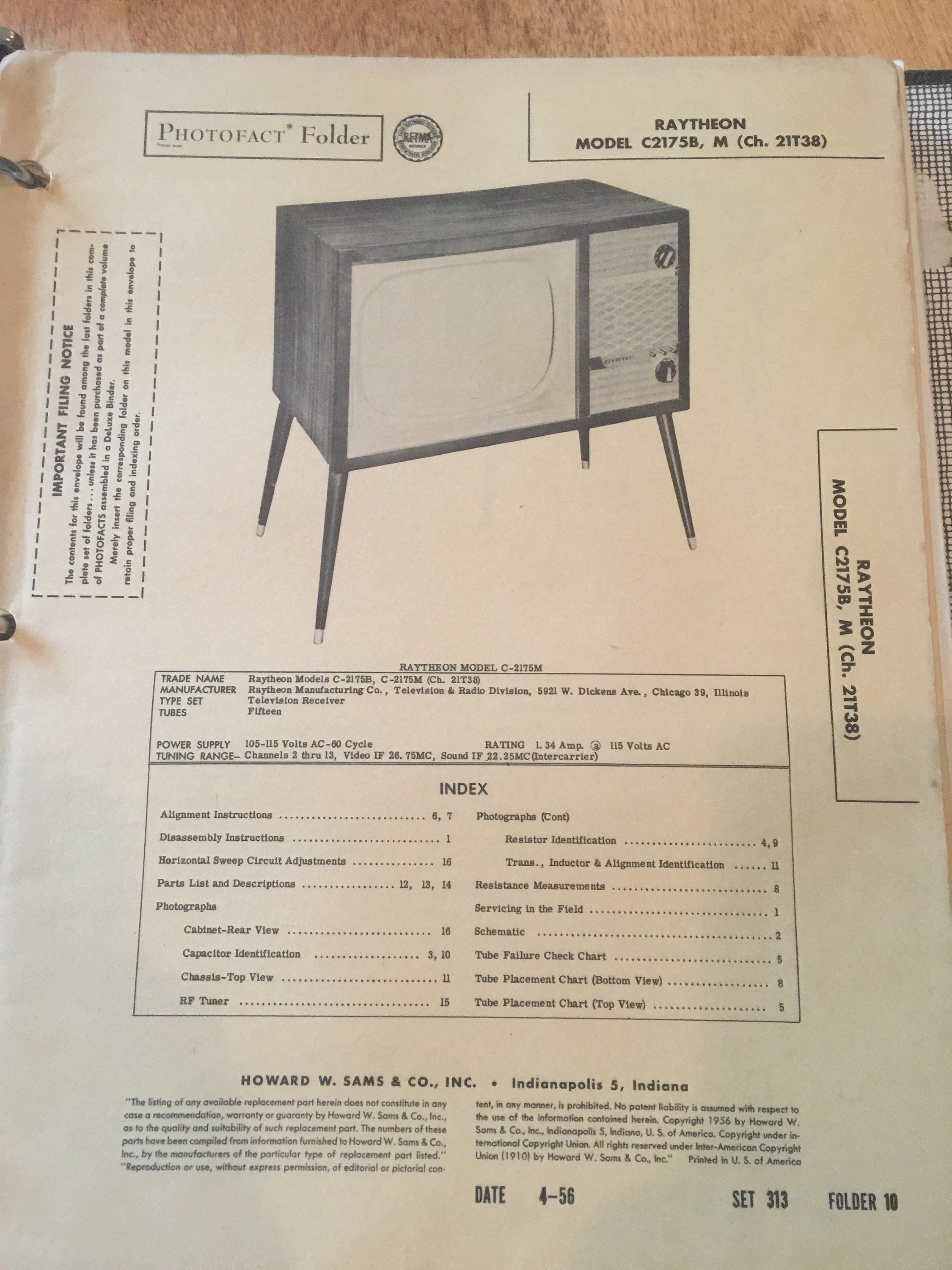 1950s TV Repair Manuals Binder