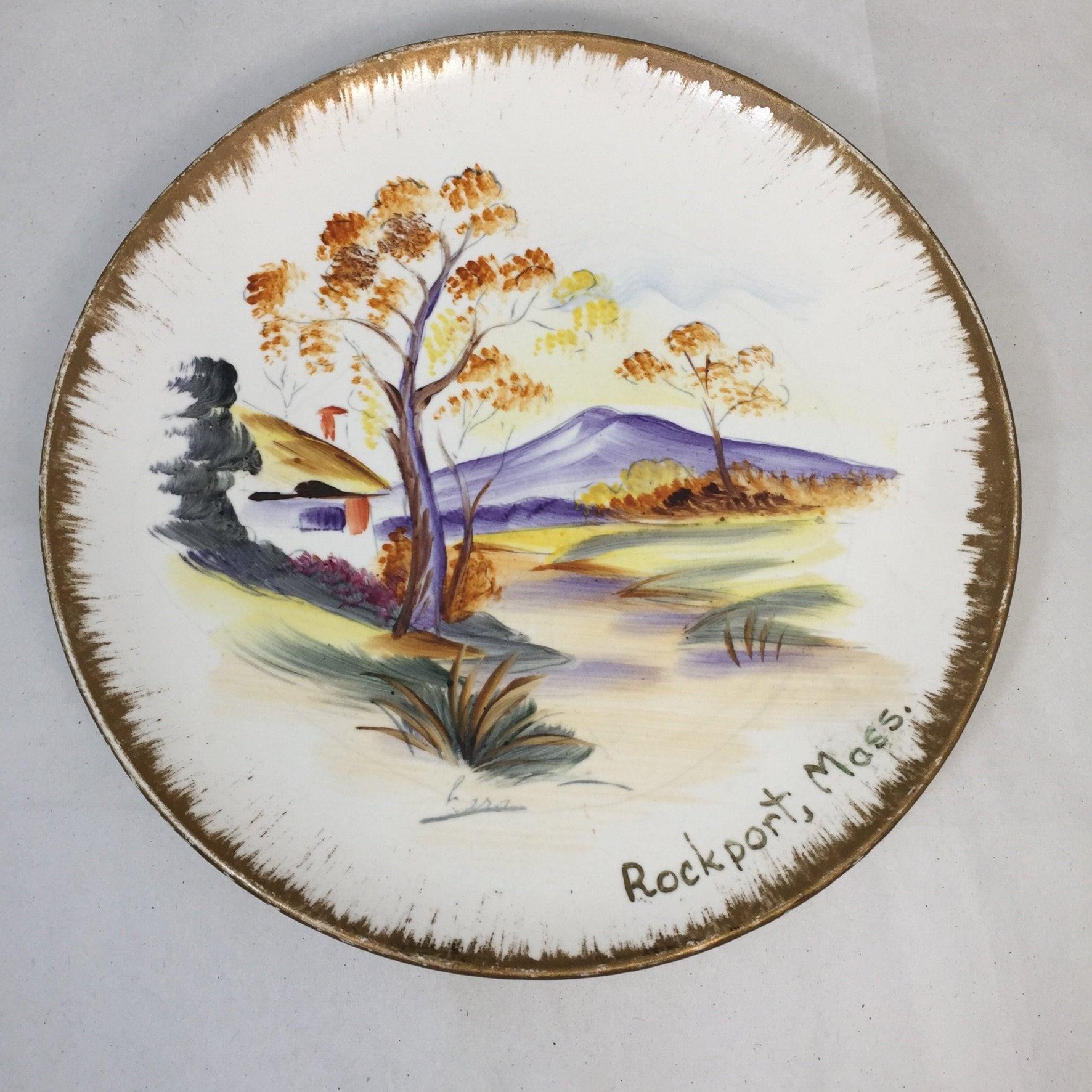 Vintage Rockport Massachusetts Souvenir Plate