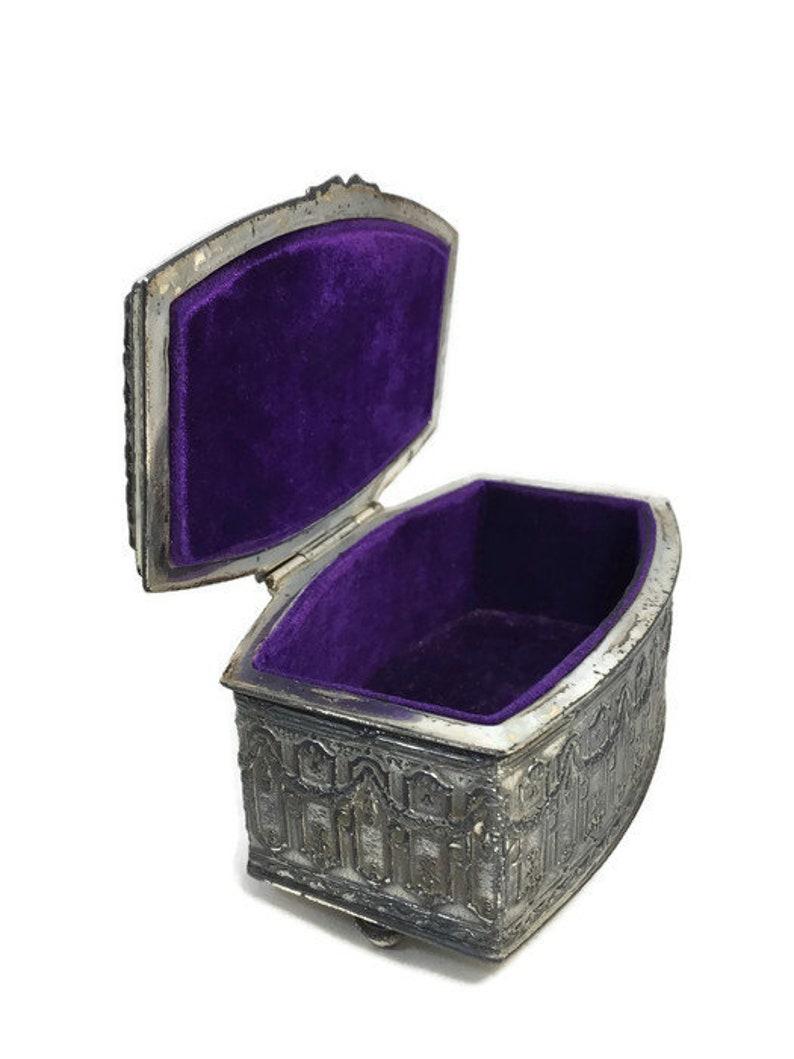 Jewellery Storage Antique Jewelry Box Velvet Interior Jennings Brothers Silverplated Jewel Casket Ornate Jewel Chest