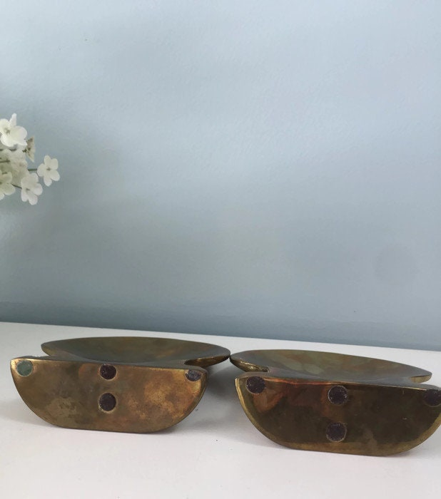 Image 8 of Vintage Brass Shell Bookends