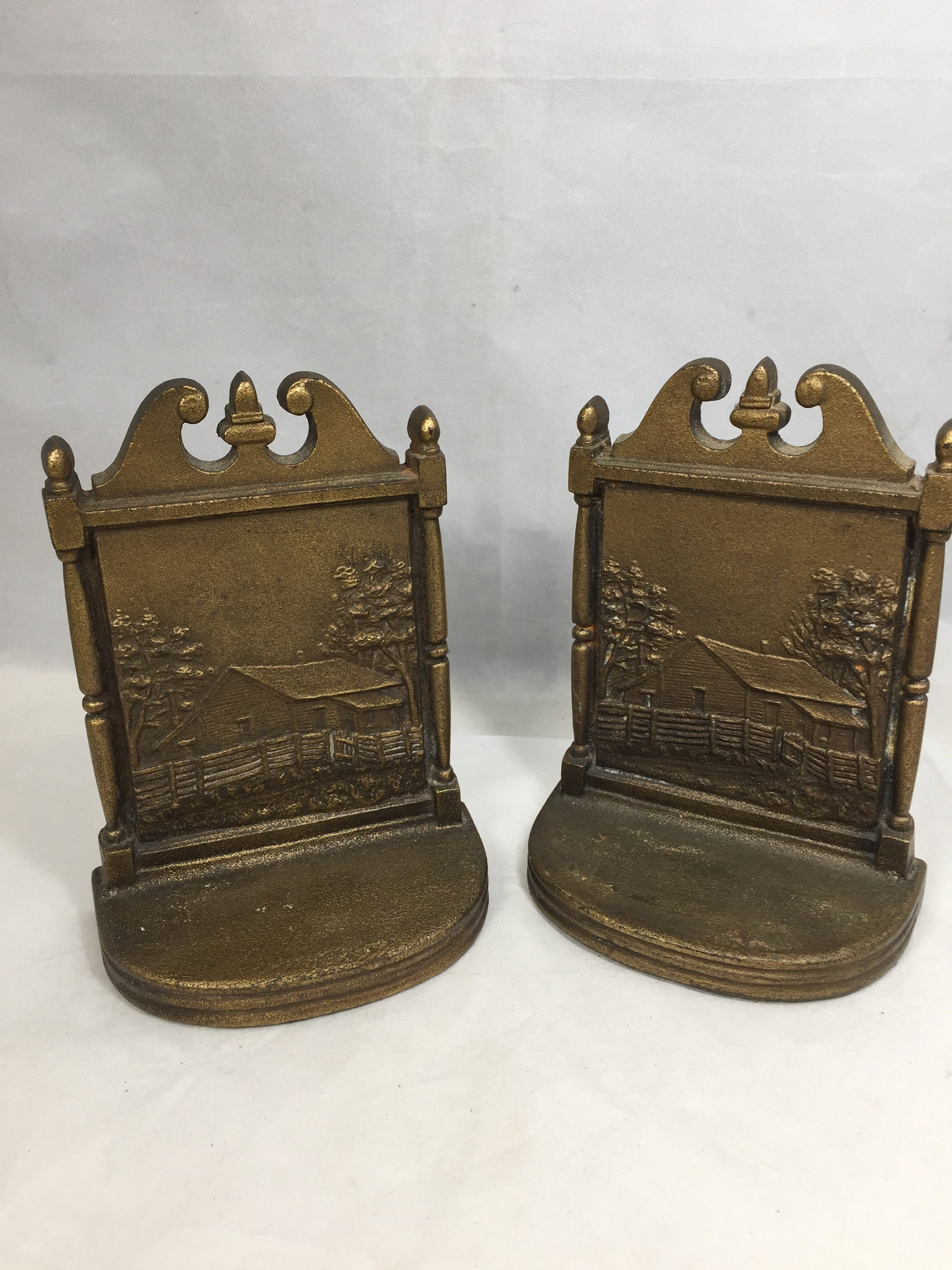 Image 3 of Antique Bradley and Hubbard Bookends