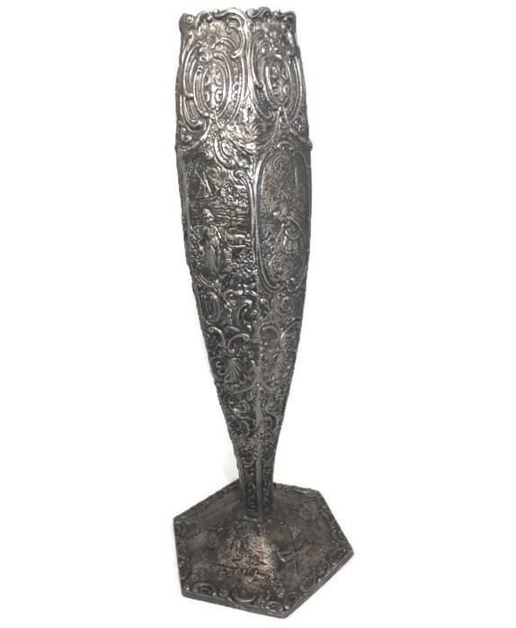 1920s Metal Vase