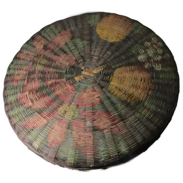 Image 4 of Antique Hand Painted Basket
