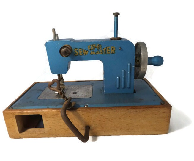 Vintage KayanEE Sew Master Blue Toy Sewing Machine