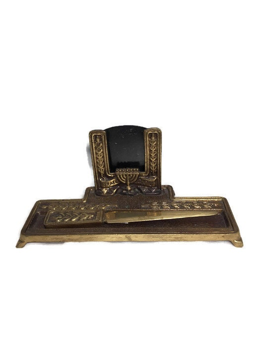 Vintage Judaica Desk Set