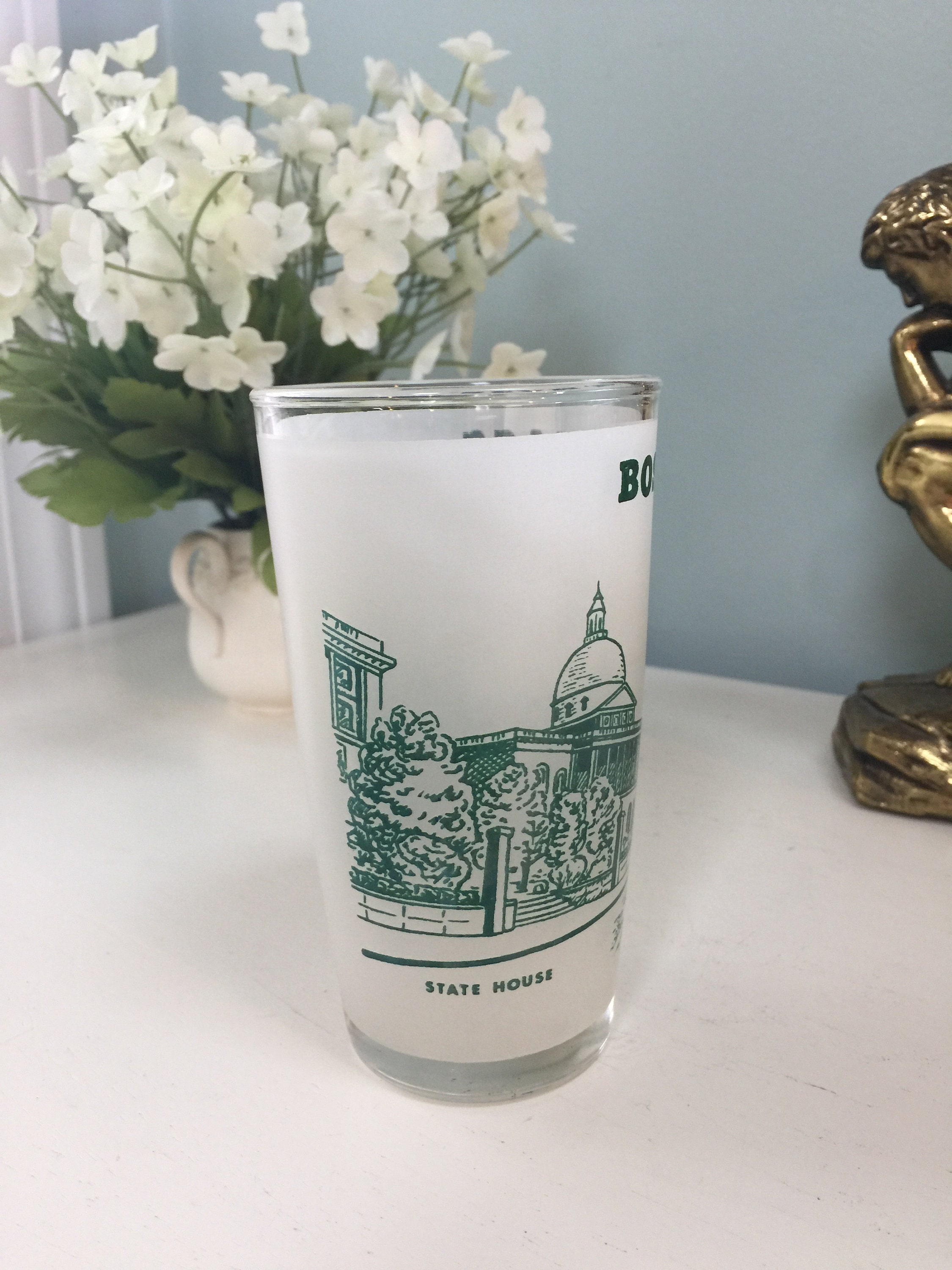Image 6 of Vintage Boston Massachusetts Souvenir Glass