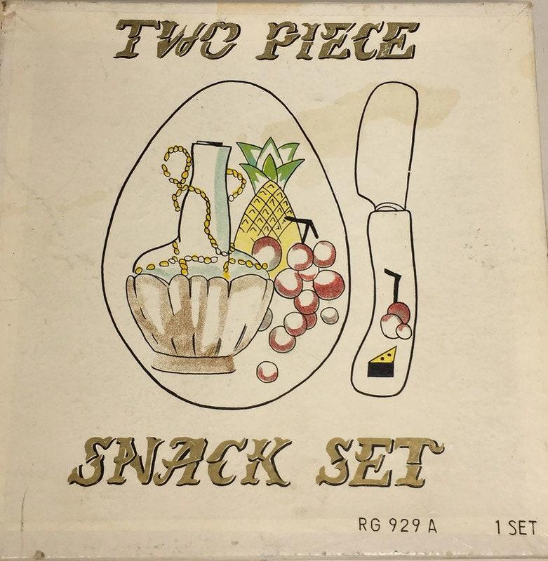 Vintage Ceramic Snack Set by Lefton