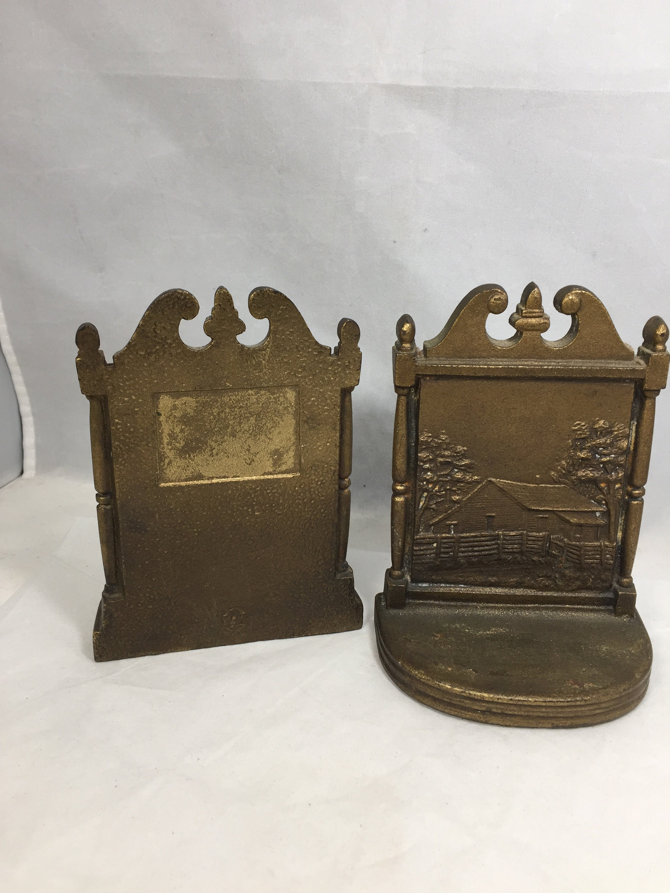 Image 1 of Antique Bradley and Hubbard Bookends