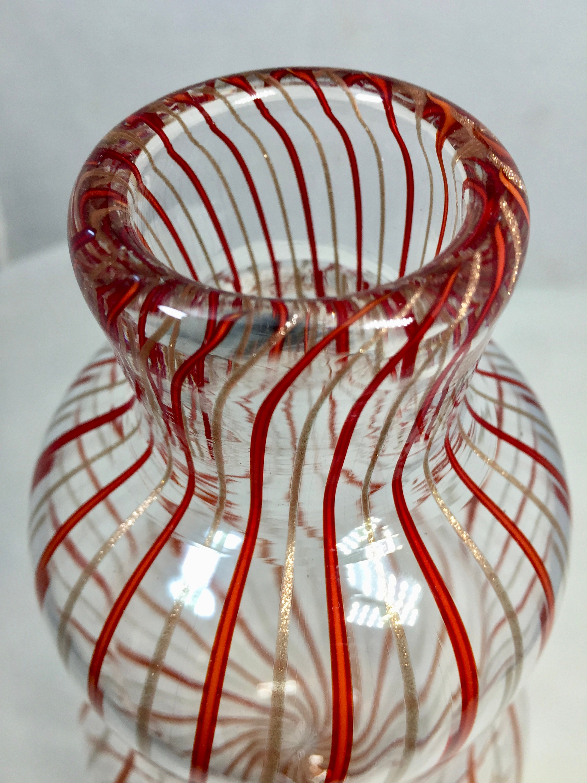 Image 9 of Mid century Murano Glass Vase by Venini