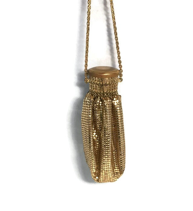 Vintage Whiting and Davis Gold Mesh Bag