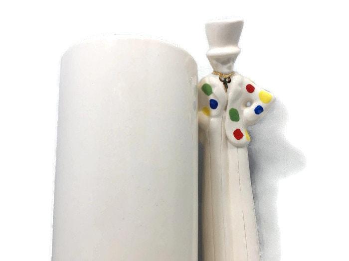 Image 1 of Vintage Circus Clown Vase