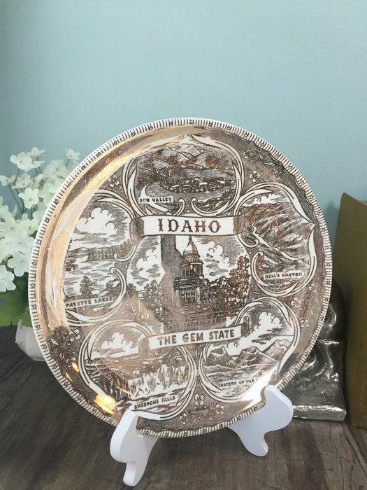 Image 9 of Vintage Idaho Souvenir Plate