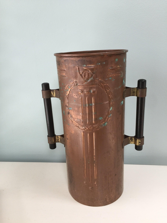 Image 1 of Vintage Copper Arts and Crafts Vase