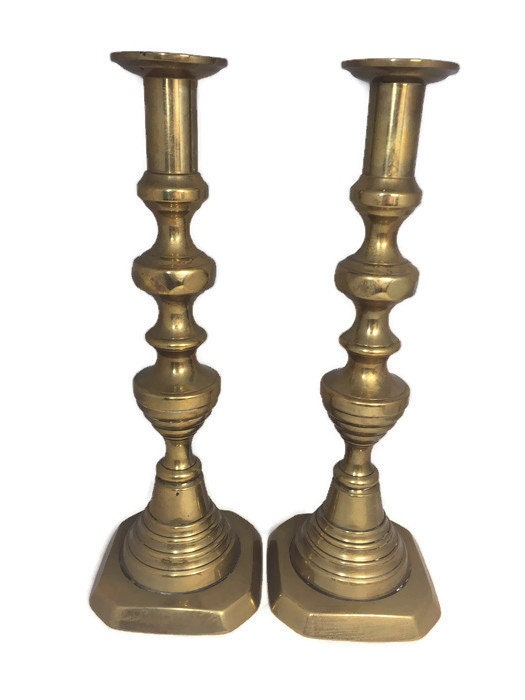 Image 3 of Vintage Brass Push Up Candle Holders