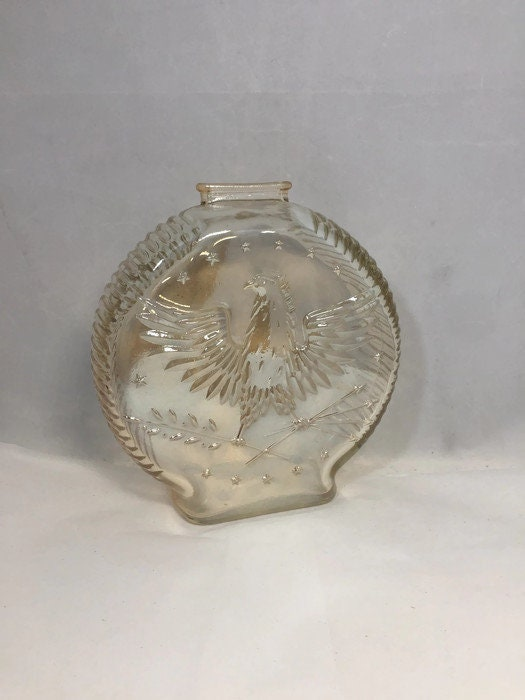 Image 0 of Vintage Amber Carnival Glass Piggy Bank