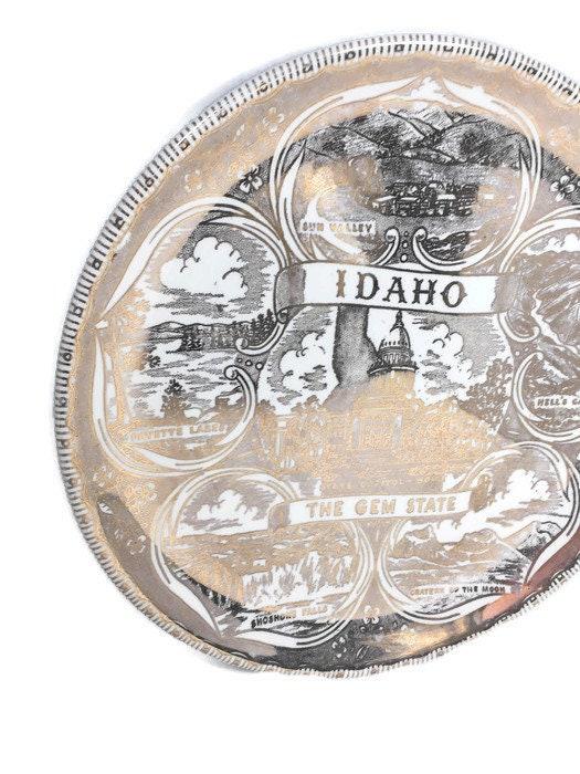 Image 2 of Vintage Idaho Souvenir Plate