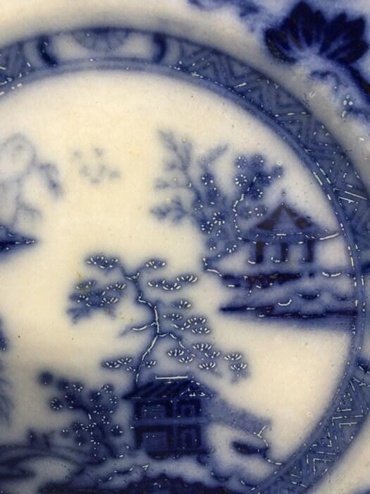 Image 5 of Antique Flow Blue Plate