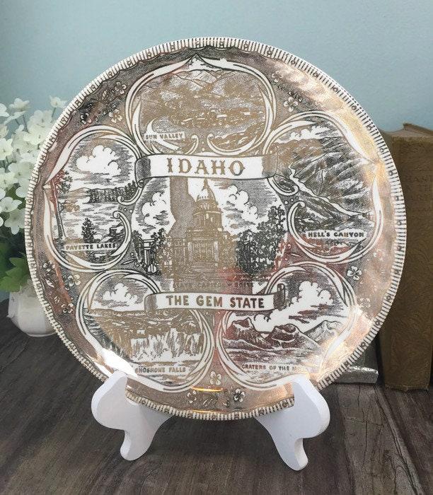 Vintage Idaho Souvenir Plate
