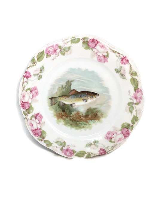 Antique Bavarian Porcelain Dinner Plate