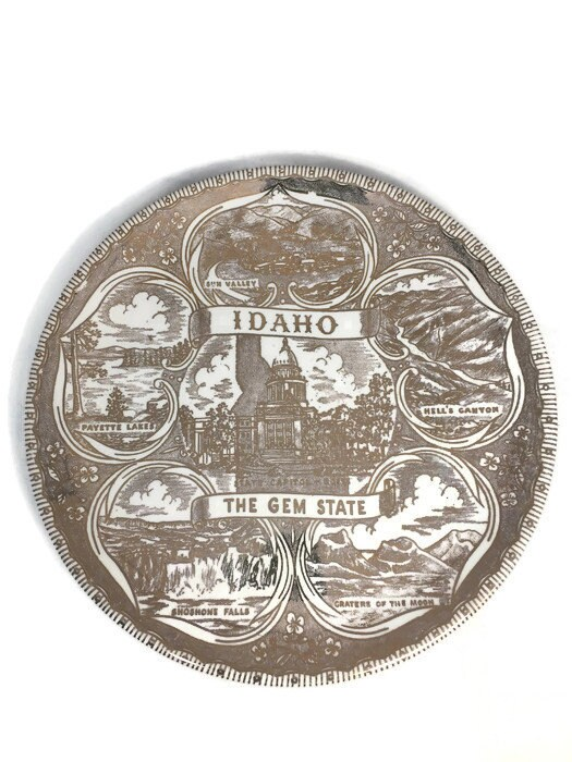 Image 4 of Vintage Idaho Souvenir Plate