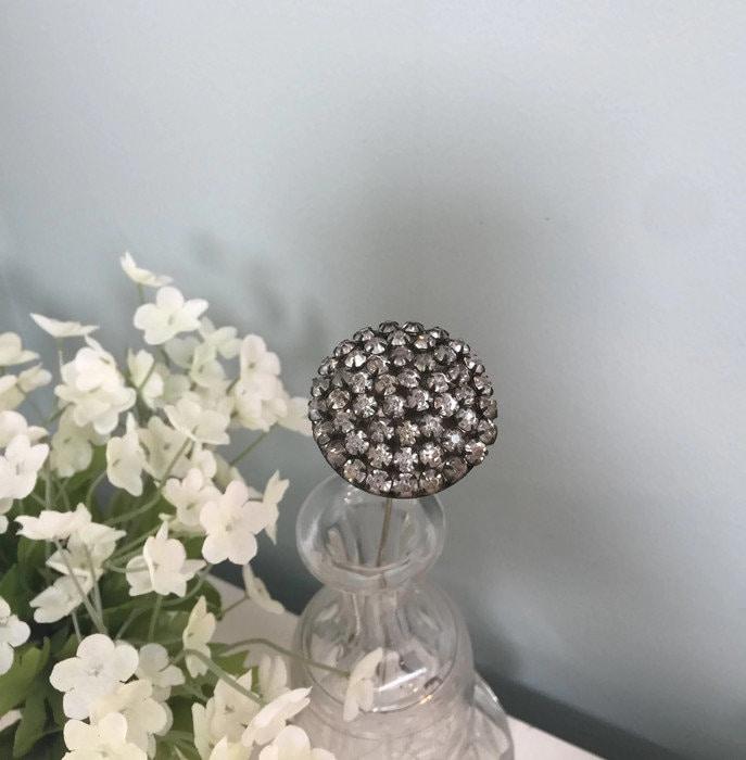 Antique Rhinestone Hat Pin