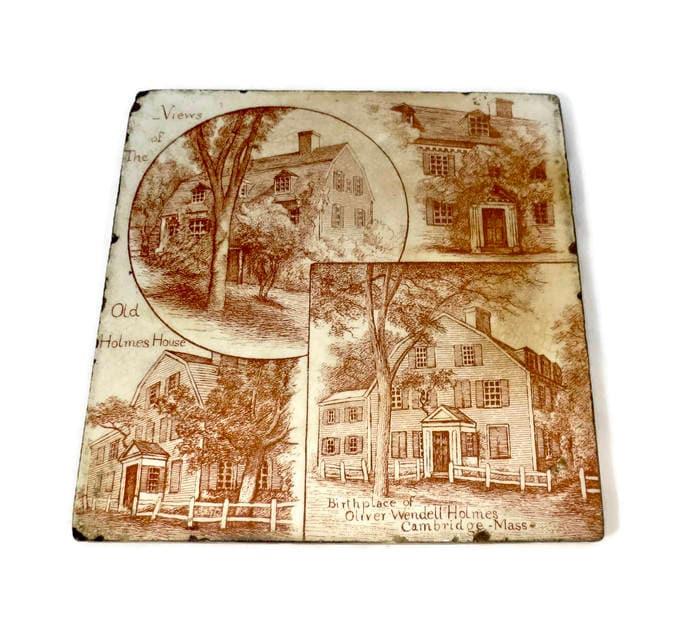 Antique Cambridge Massachusetts Minton Tile