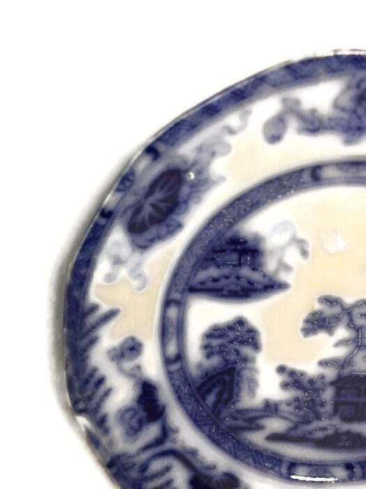 Image 1 of Antique Flow Blue Plate