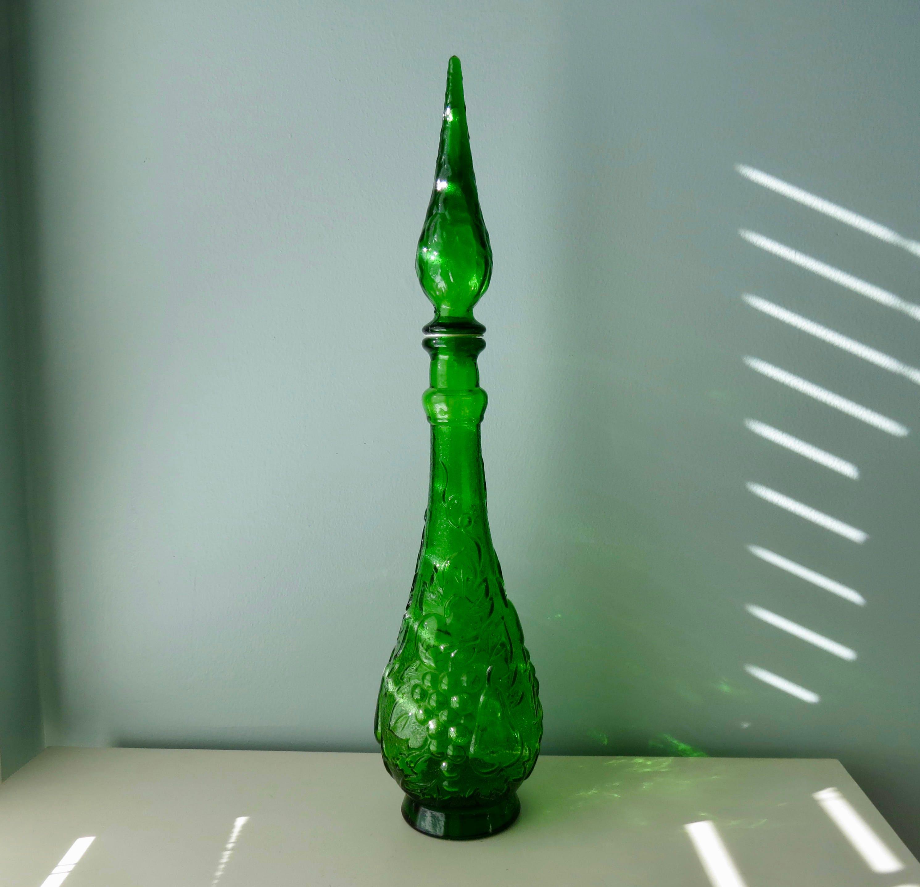 Image 1 of Mid Century Empoli Glass Bottle