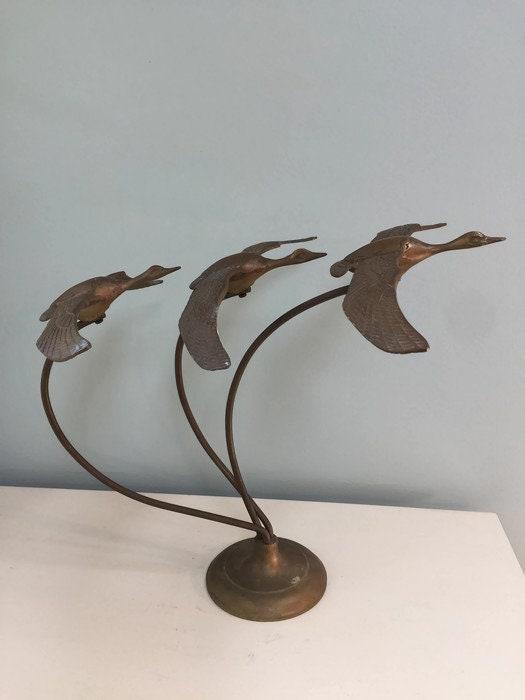 Vintage Brass Flying Geese