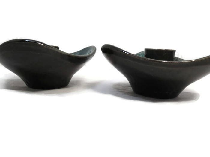 Image 2 of Mid Century Blue Mountain Pottery Candle Holders