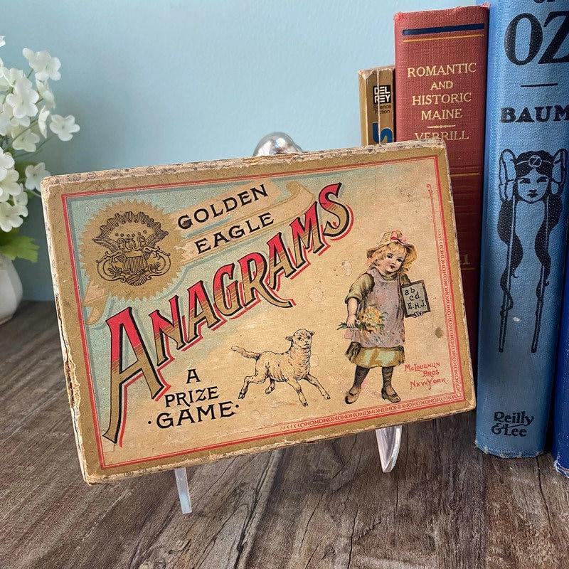 Image 0 of Antique Game - Anagrams - McLoughlin Bros, Original Box, Rare Very God Condition