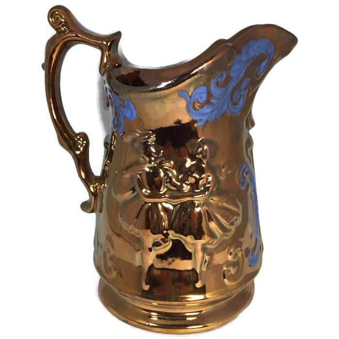 Copper Lusterware Pitcher