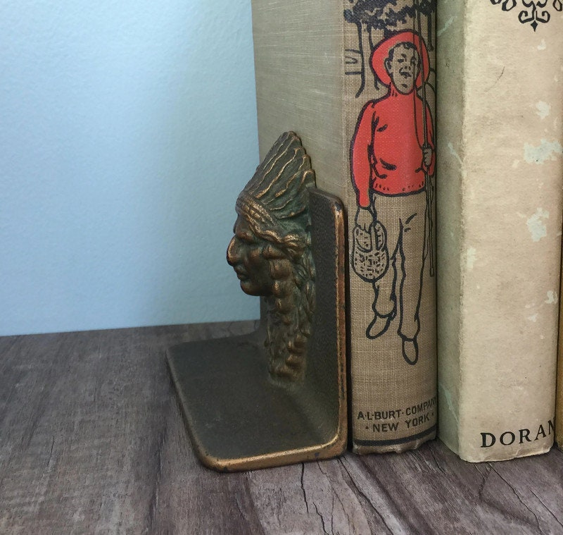 Image 5 of Vintage Indian Chief Bookends