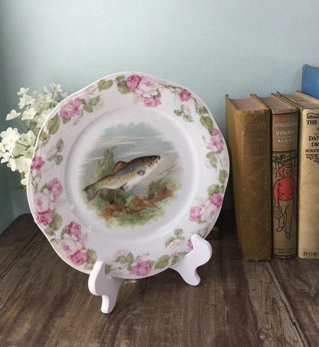 Image 7 of Antique Bavarian Porcelain Dinner Plate