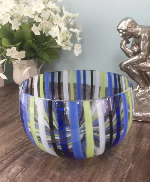 Image 5 of Mid century Murano Glass bowl by Venini