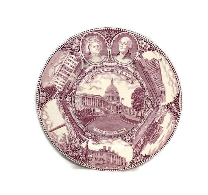 Antique Washington DC Plate