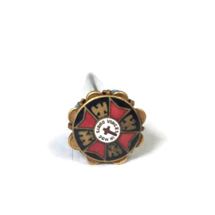 Antique Knights Templar Masonic Hat Pin