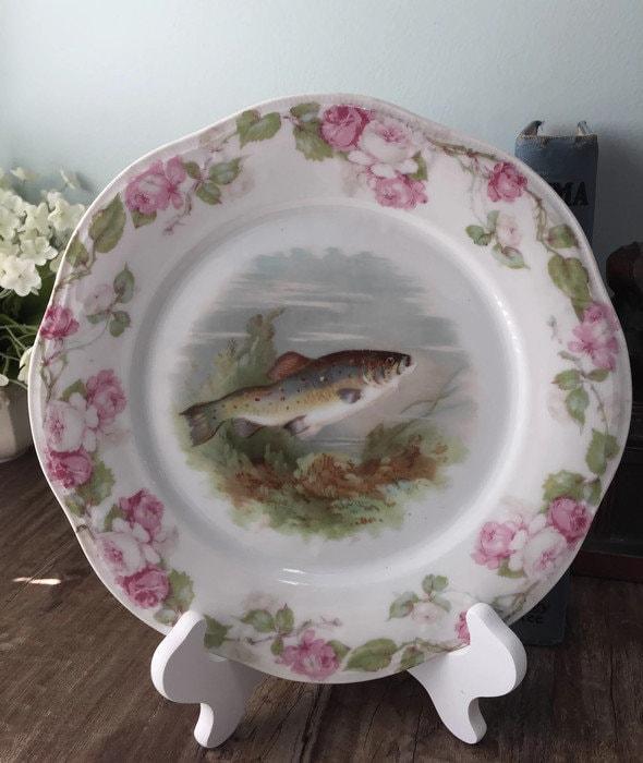 Image 6 of Antique Bavarian Porcelain Dinner Plate